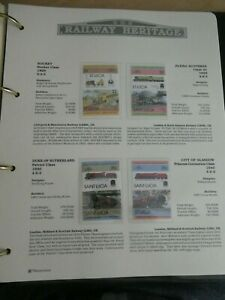 RAILWAY HERITAGE 1983 MINT STAMPS  ST LUCIA $2 $2 35C 35C