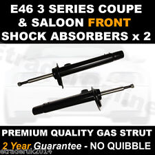 BMW 3 Series E46 Front Shock Absorbers x 2 98-07 Shockers Dampers NOT ESTATE New