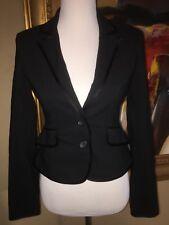NWT-Express Design Studio Black Blazer With Satin Trim, Size 2, Orig $118