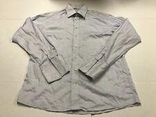 Eton Men's Blue Check Dress Shirt Long Sleeve Button Front French Cuff 42 16 1/2