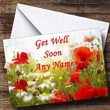 Poppy Personalised Get Well Soon Greetings Card