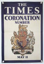 Original Times Coronation George VI poster 1937
