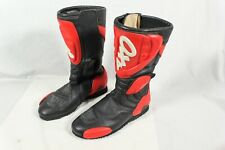 AXO Motorcycle Boots Red Black Motorbike Size 39 Made in Italy AAS SAS Biker