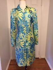 NWOT Green/Blue Paisley Bob Mackie Shirt Dress Size 10