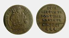 pcc2007_3) Roma PIO VII° (1800-1823) Baiocco del Possesso 1801 AN I°