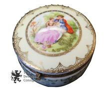 Antique 1900s Eisenberg Germany Kalk Porcelain Factory Jewelry Trinket Box