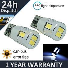 2x W5W T10 501 can bus blanco libre de errores 6 SMD LED Interior Bombillas