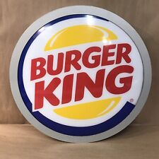 """Vintage BURGER KING 19"""" Round Light Up Sign Fast Food"""