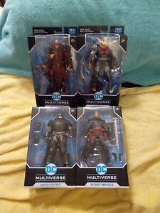 McFarlane DC Multiverse Lot King SHAZAM, Demon, TDKR Armored & Flashpoint Batman
