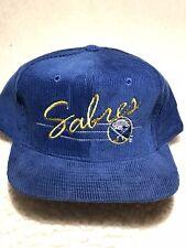 Vintage 1990's Nhl Buffalo Sabres Corduroy SnapBack Hat Cap New No Tag