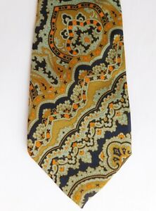 All Silk Paisley tie by Newcombs of Chatham vintage English mens wear c 1970s