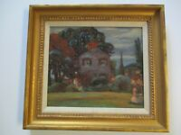 VINTAGE  IMPRESSIONISM EXPRESSIONISM PAINTING OIL ANTIQUE NEW JERSEY EXHIBITED