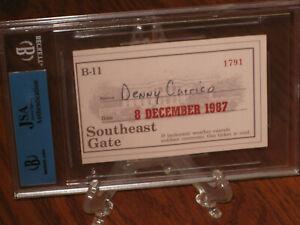 HISTORICAL 1987 Joe DiMaggio Auto White House Invitation - JSA LOA - Beckett