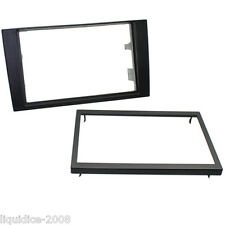 CT24AU21 AUDI A4 2001 to 2008 BLACK DOUBLE DIN ISO FASCIA ADAPTER FRAME