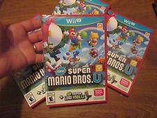 New Super Mario Bros. U + New Super Luigi U Nintendo Wii U NEW FACTORY SEALED