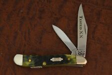 CASE TESTED XX USA OLIVE GREEN JIGGED BONE PEANUT KNIFE NICE 6220 SS 2015 (5461)