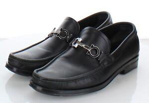 07-32 $595 Men's Sz 7 EE Salvatore Ferragamo Grained Calf Leather Moc Toe Loafer