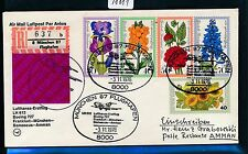 98881) LH FF Reco ! München - Amman 3.11.76, SoU Satz Wofa Blumen flower