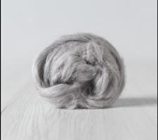 2 oz Flax /Linen roving. Silver flax fiber for felting, spinning other fiber art