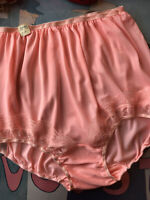 Vintage 1950's pink all acetate tricot & lace panties - LARGE XLARGE