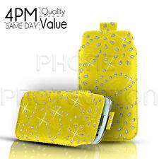 Diamond Premium De Cuero Pu lengüeta bolsa caso para varios teléfonos Sony Ericsson