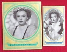 Zarah Leander 1936 1937 Bunte Filmbilder Film Stars Cigarette Cards Lot of 2