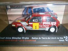 SEAT IBIZA BIMOTOR PROTO RALLY TIERRA LLORET DE MAR 1988 SERVIA ALTAYA IXO 1/43