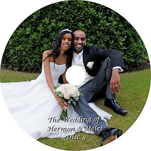 70 personalised wedding invitations CD/DVDs printed and duplication