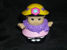 Fisher Price Little People Easter Tea Girl Sonya w Boa New in Light Pink #2