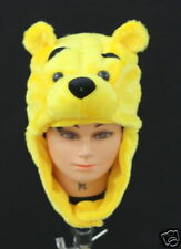 Winnie The Pooh Bear Costume Party Warm Hat Mask Cap
