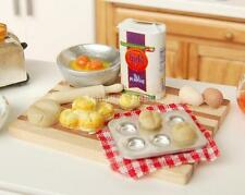 1:12 Puppenstube Miniatur Eier+Milch+Brot Set Lebensmittel Essen Küche