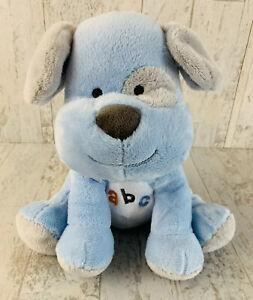 Carters Child Of Mine Blue PUPPY DOG Plush ABC Alphabet Musical Toy Gray Orange