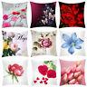 Floral Printing Pillow Waist Case Polyester Sofa Car Cushion Cover Home Decor