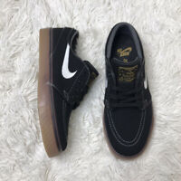 NIKE SB ZOOM STEFAN JANOSKI Boys Size 4 615957-017  Black Canvas Upper Gum Sole