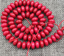 5x8mm red ruby abacus loose beads 15 ""