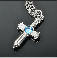 Anime Fairy Tail Gray Fullbuster Cross Necklace Pendant Cosplay Jewelry Toy