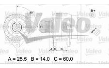 VALEO Alternador VOLKSWAGEN GOLF POLO SEAT LEON IBIZA HYUNDAI SKODA 437399