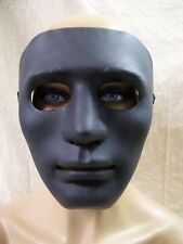 Creepy Matte Black Blank Face Costume Mask Purge Faceless Stalker Dancer Mime