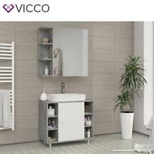 Vicco meuble avec miroir Fynn miroir de salle de bain béton miroir avec rails