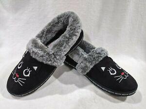 Skechers Bobs Women's Too Cozy Meow Pajamas Black Slippers - Size 7.5/8.5/9 NWB