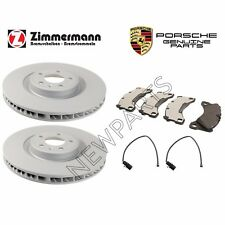For Porsche Macan Front Vented Brake Disc Rotors w/ Pads & Sensors OEM