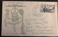 1946 Dublin Ireland First Day Cover FDC To Flint Mi USA St Patricks Day