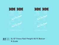 K4 N Decals SLSF Frisco 40 Ft Boxcar White Fast Freight