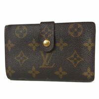 Auth LOUIS VUITTON Monogram Porte Feuille Vienonois Metal Clasp Wallet 16741bkac