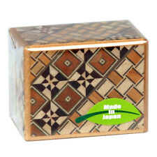 SAMURAI Handmade WoodenYosegi Secret Trick Puzzle Magic Mini Box 5 Step/HK-103