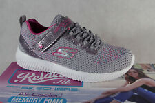 Skechers Girls Slippers Sneakers Low Shoes Trainers Grey/Pink New