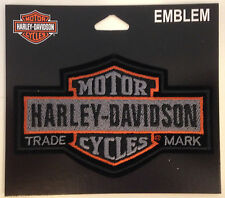 9493 HARLEY DAVIDSON NOSTALGIC BAR & SHIELD SEW ON CLOTH PATCH MOTORCYCLE