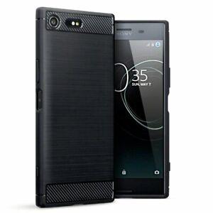 For Sony Xperia XZ Premium Carbon Fibre Gel Case Cover Shockproof & Stylus Pen