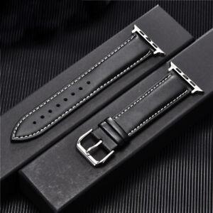 Kalbsleder Armband 42mm 44mm für Apple iwatch 1 2 3 4 5 6 SE
