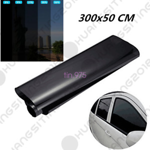 Black Solar Film Window Tint Car Van Reduce Sun Glare 15% Universal 300 x 50cm